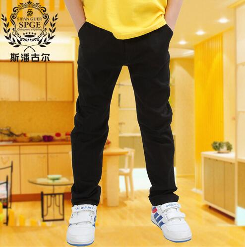 trousers child casual pants autumn new arrival spring and autumn single white black trousers 2018 Boys fashion high quality недорго, оригинальная цена