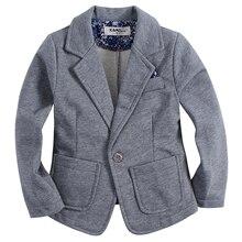 Nouvelle arrivée tricoté coton 100% enfant GARÇON blazer BB161103C solide gris