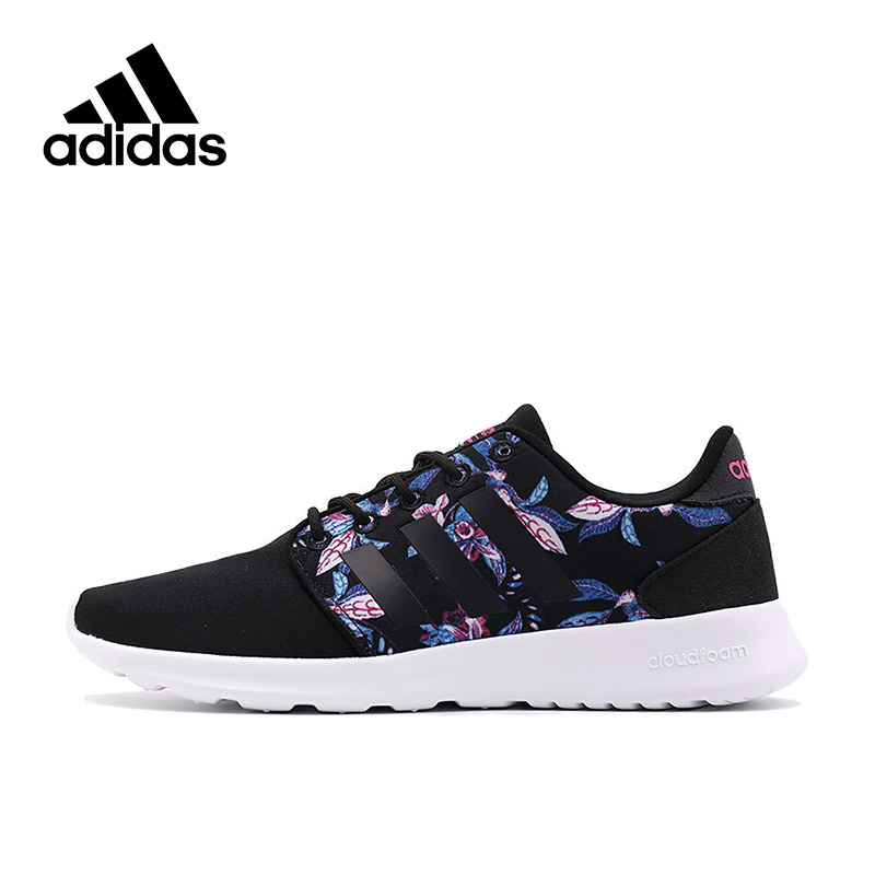 Adidas Official NEO Label CLOUDFOAM QT RACER W Women's Skateboarding Shoes Sneakers Sport Outdoor AW4007 New Arrival original new arrival 2017 adidas neo label cloudfoam qt racer w women s skateboarding shoes sneakers