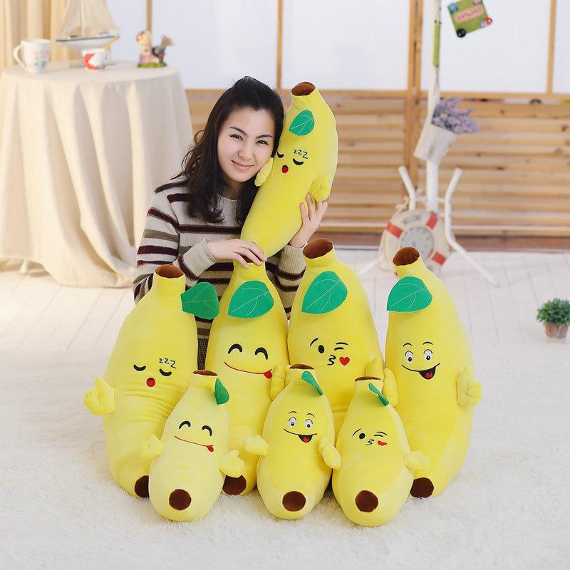 1pc 40cm Soft Banana Plush Pillow Staffed Emoji Banana Cushion Boyfriend Pillow Creative Girls Valentines Gift Plush Toy Doll