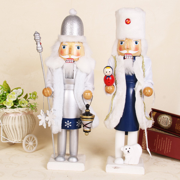 Free shipping Christmas Snowman Wooden Nutcrackers 2014 new 38CM New Year home Decoration Supplies Christmas gift