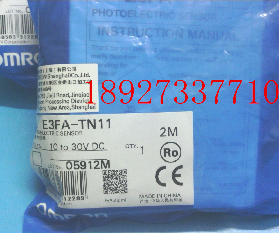 [ZOB] New original omron Omron photoelectric switch E3FA-TN11 2M-beam  --2PCS/LOT [zob] new original omron omron photoelectric switch ee sx974 c1 5pcs lot