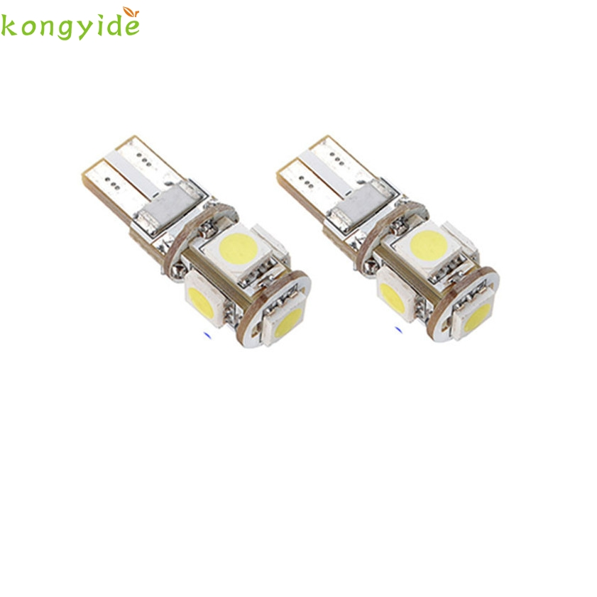 High Quality New 10 X Canbus Error Free White T10 5-SMD 5050 W5W 194 16 Interior LED bulbs 2pcs brand new high quality superb error free 5050 smd 360 degrees led backup reverse light bulbs t15 for skoda rapid
