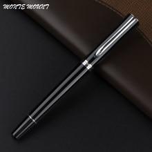 Stylo à bille roulante noir avec logo, support de luxe, blanc, fournitures scolaires et de bureau, stylos cadeaux d'écriture