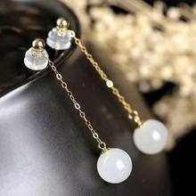 Женские серьги подвески shilovem 18 К желтое золото натуральный