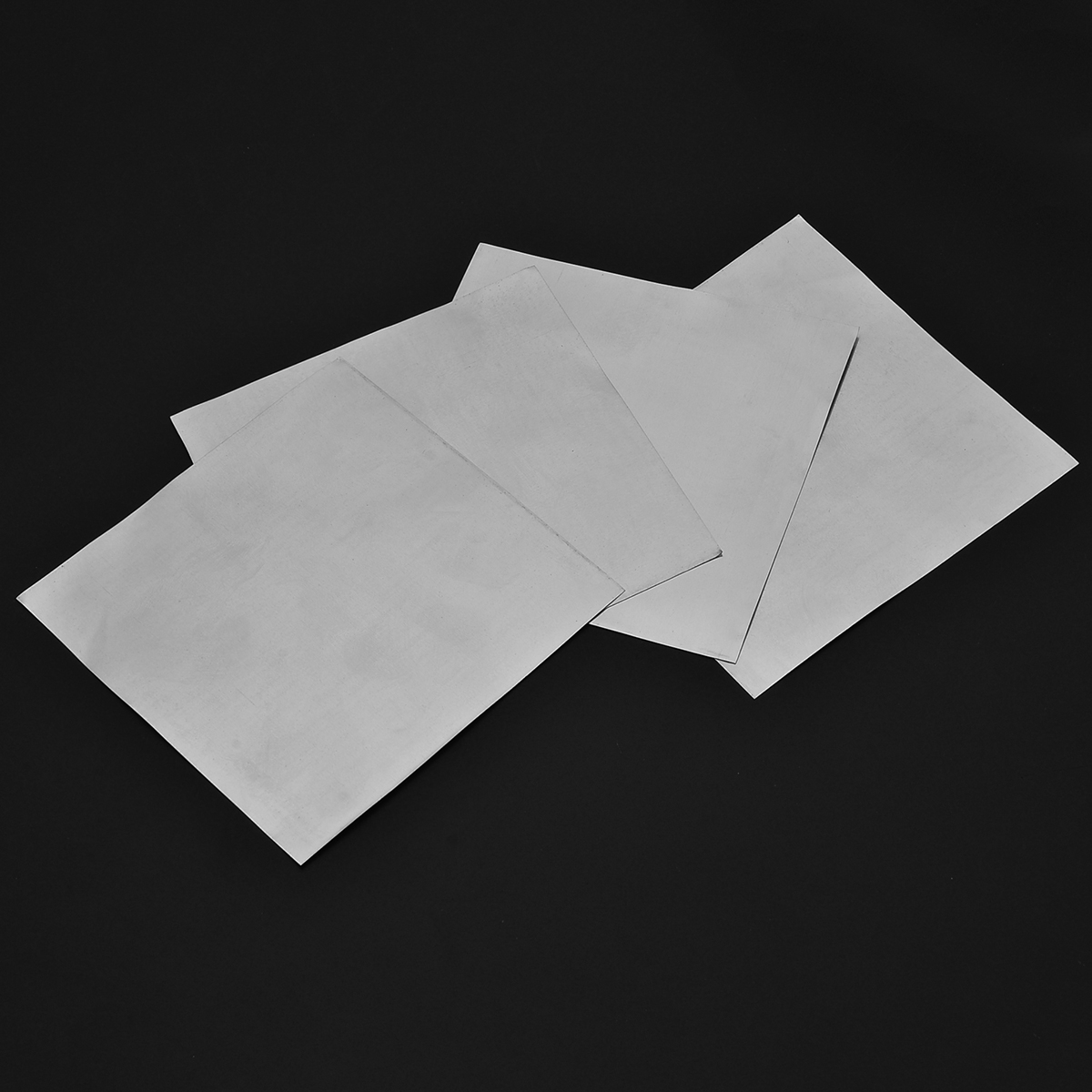 5pcs 99.9% Pure Zinc Sheet Plate 140x140x0.2mm High Purity For Science Lab Tools Set
