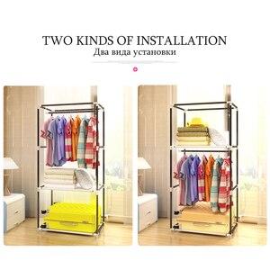 Image 2 - ตู้เสื้อผ้าแบบเรียบง่ายนักเรียนหอพักเดี่ยวตู้เสื้อผ้าตู้เสื้อผ้า Finishing ตู้เก็บเหล็กตู้เสื้อผ้า
