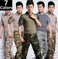 Free Shipping Summer Military Uniform German Multicam Camo Short Sleeve Combat Shirt Emerson Tactical Pants Army