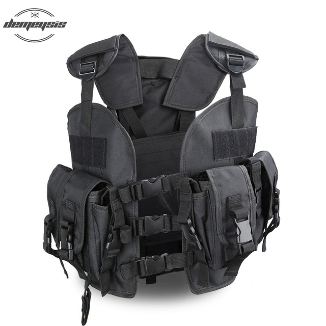 53dd555e95e Good quality Tactical Vest with Removable Water bag Army Tactical Vest  Airsoft Light Military Vest For