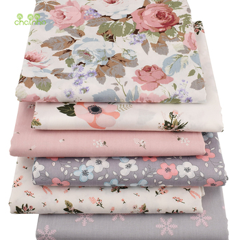 Chainho,6pcs/Lot New Floral Series Twill Cotton Fabric,Patchwork Cloth,DIY Sewing Quilting Fat Quarters Material For Baby&Child 6