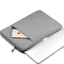 Soft Nylon Pouch Laptop Sleeve Bag Waterproof Notebook case For Macbook Air 11 13 Pro 13 15 Retina Villus Liner Protective Bag