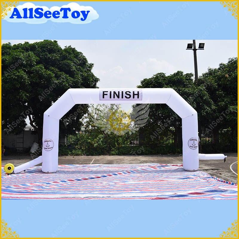 8 метров/26 футов Span надувная АРКА события Арка вход, финишная линия для спортивных мероприятий, гоночная арка