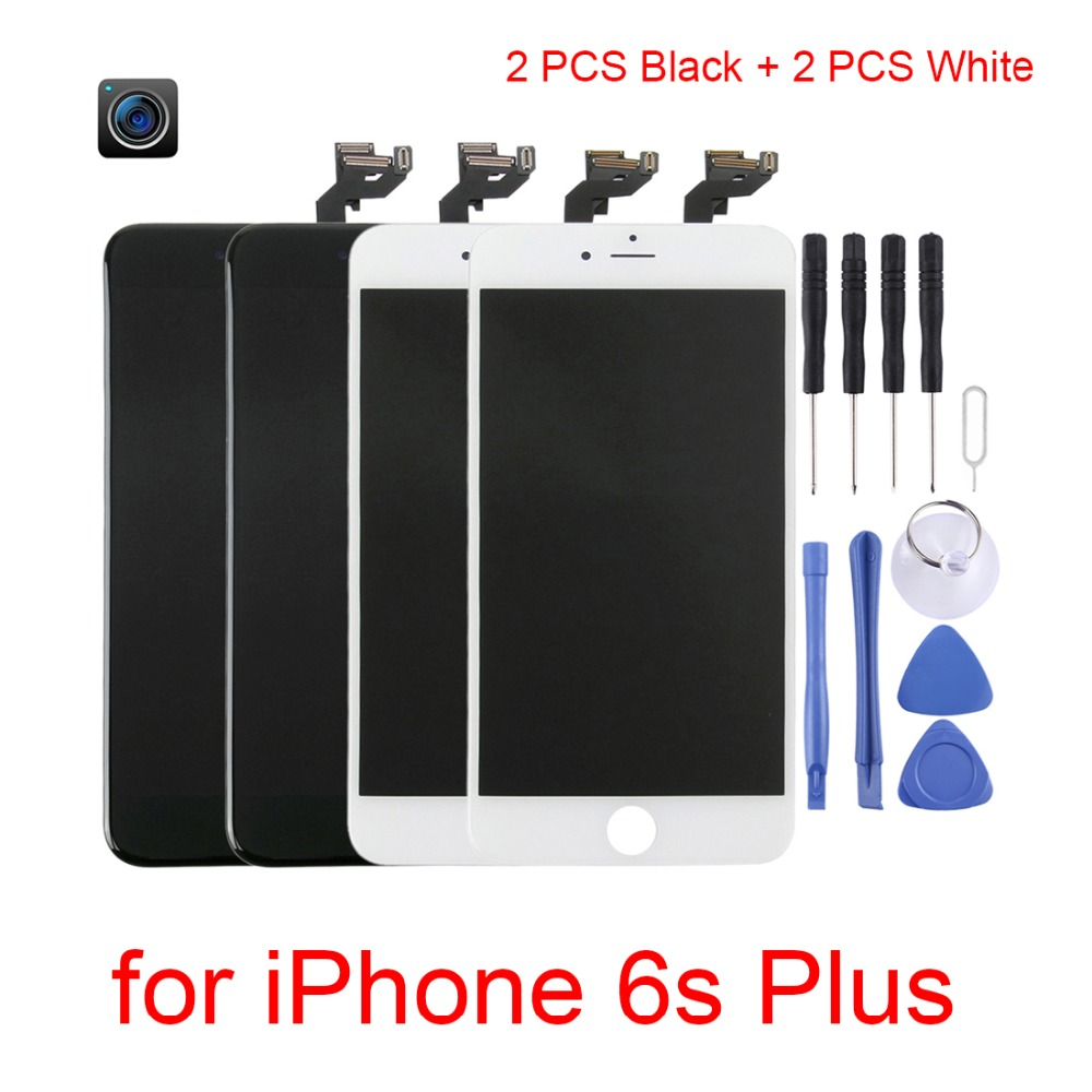4 PCS for iPhone 6s plus LCD Screen and Digitizer Full Assembly with Front Camera for iPhone 6s plus Screen Replacement Display4 PCS for iPhone 6s plus LCD Screen and Digitizer Full Assembly with Front Camera for iPhone 6s plus Screen Replacement Display