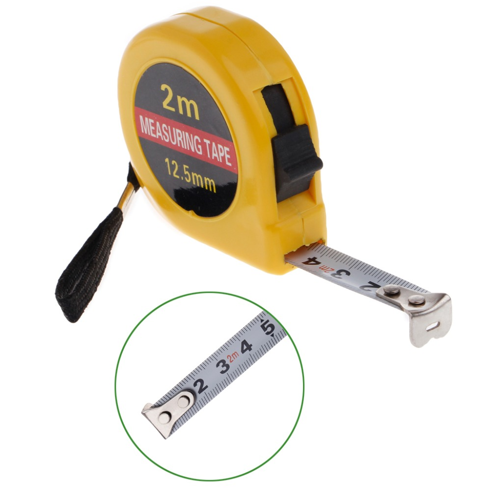 Easy Retractable Ruler Tape Measure Mini Portable Pull Ruler Keychain 5 pcs