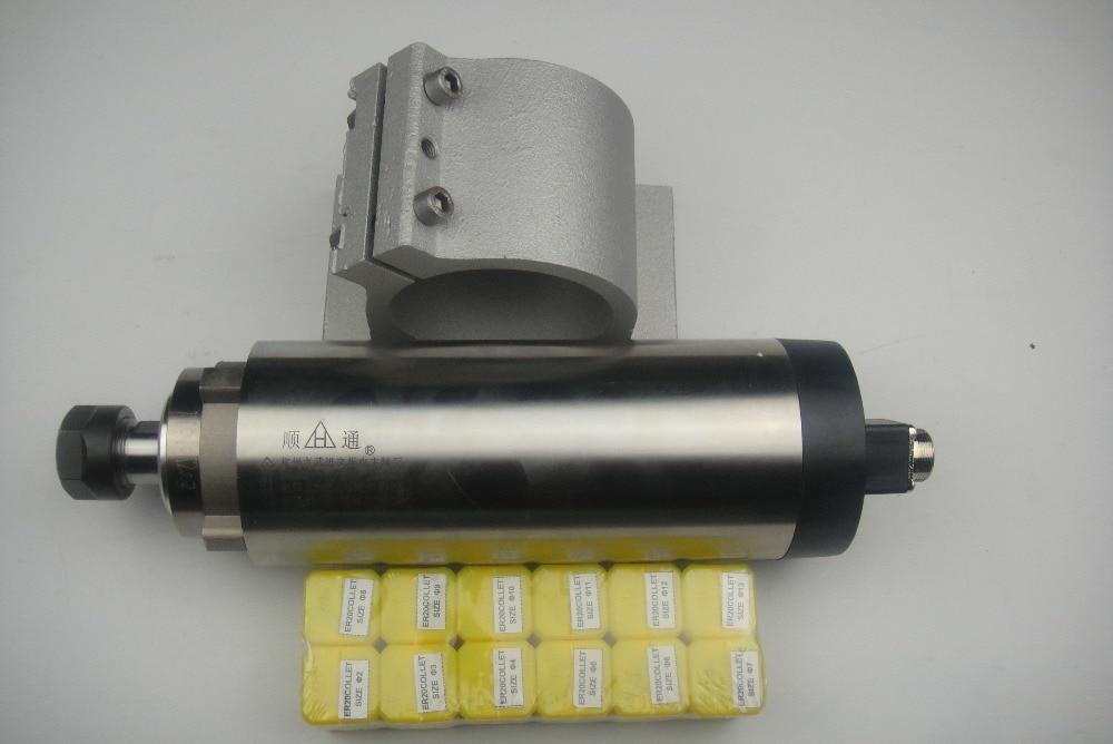 CNC fuso de fresamento ER20 2.2KW suporte do eixo do eixo de ar de arrefecimento + 1 combinado + 12 peças ER20