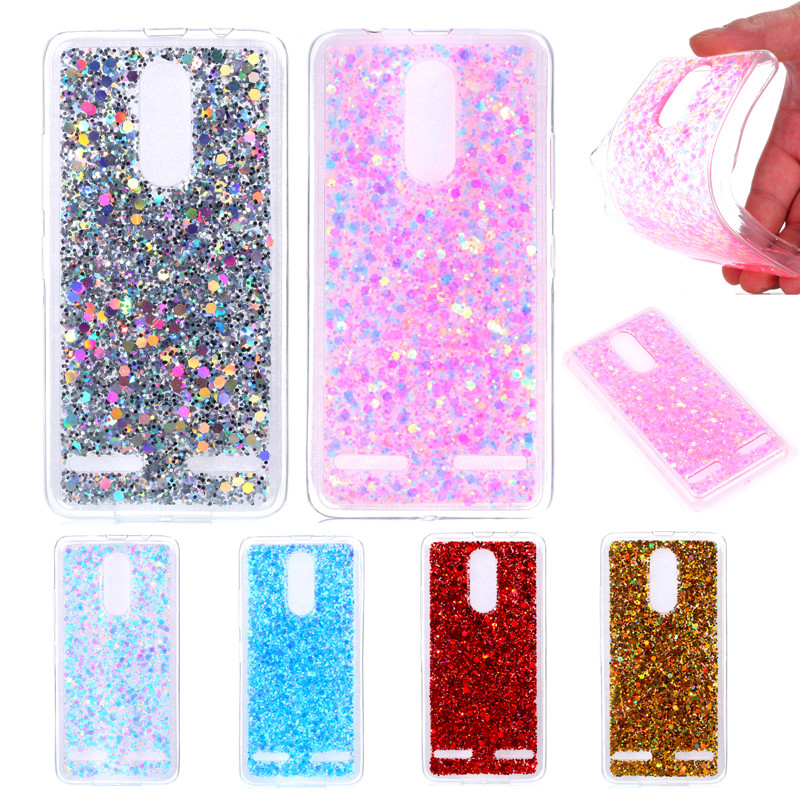 Lenovo Vibe K 6 K6 Power 5.0 Glitter Case Soft Silicone TPU Frame with Colored Back Cove ...