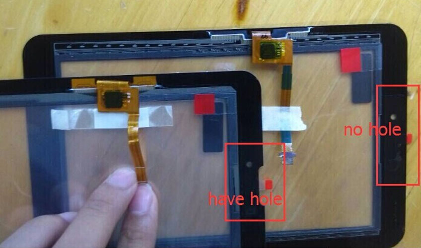 ФОТО Free Shipping FOR HuaWei MediaPad 7 Vogue S7-601 S7-601w S7-601C S7-601U S7-602U Touch Screen Digitizer Glass(W/ ear hole)
