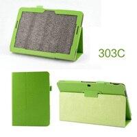Nova 2-Folder Luxo Magnetic Folio Fique Couro Caso Capa Protetora Para ASUS Transformer Pad TF303 TF303CL 10.1
