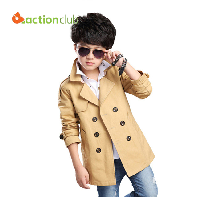 Boys Windbreaker 2015 New Kids Trench Coat 2-12 Years Children Jackets Windbreaker Autumn Jackets For Boy Kids Coats KU800