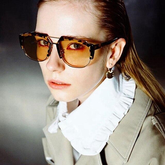 Wanita Sunglasses 2018 Merek Designer Big Bingkai kacamata Matahari  Kebesaran Pria Persegi Gradien Funky Shades Sunglasses 1ef2f58a65