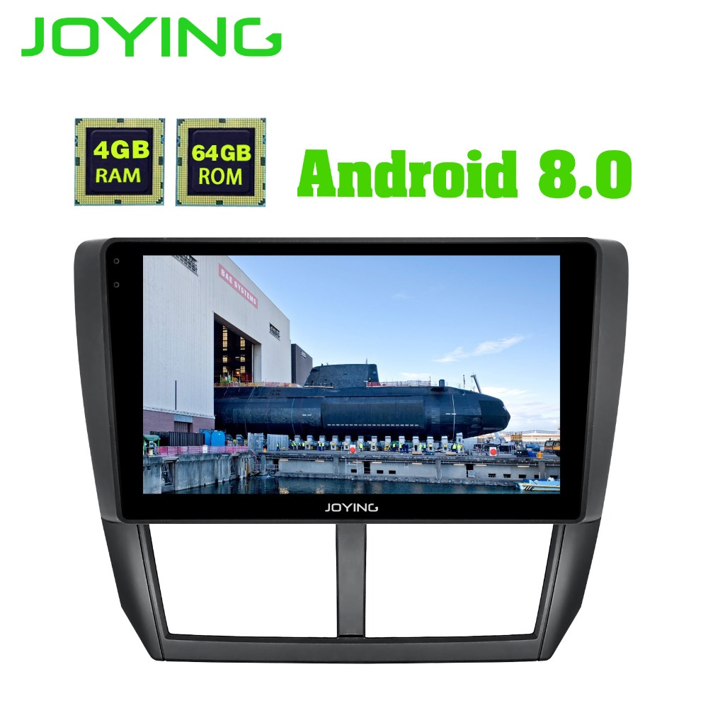 JOYING 9 4GB+64GB Android Car radio Stereo Audio GPS Navigation Head Unit For Subaru Forester 2008-2012 Multimedia Player joying hd 9 screen multimedia player 4gb ram octa core android 8 1 car dvd gps navigator radio for subaru forester 2008 2012