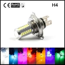 1x H4 LED 5630 33SMD 8 W 33 LED הנורה רכב אור 12 V 800lm תנועה אור נהיגה אורות ערפל אור לבן צהוב