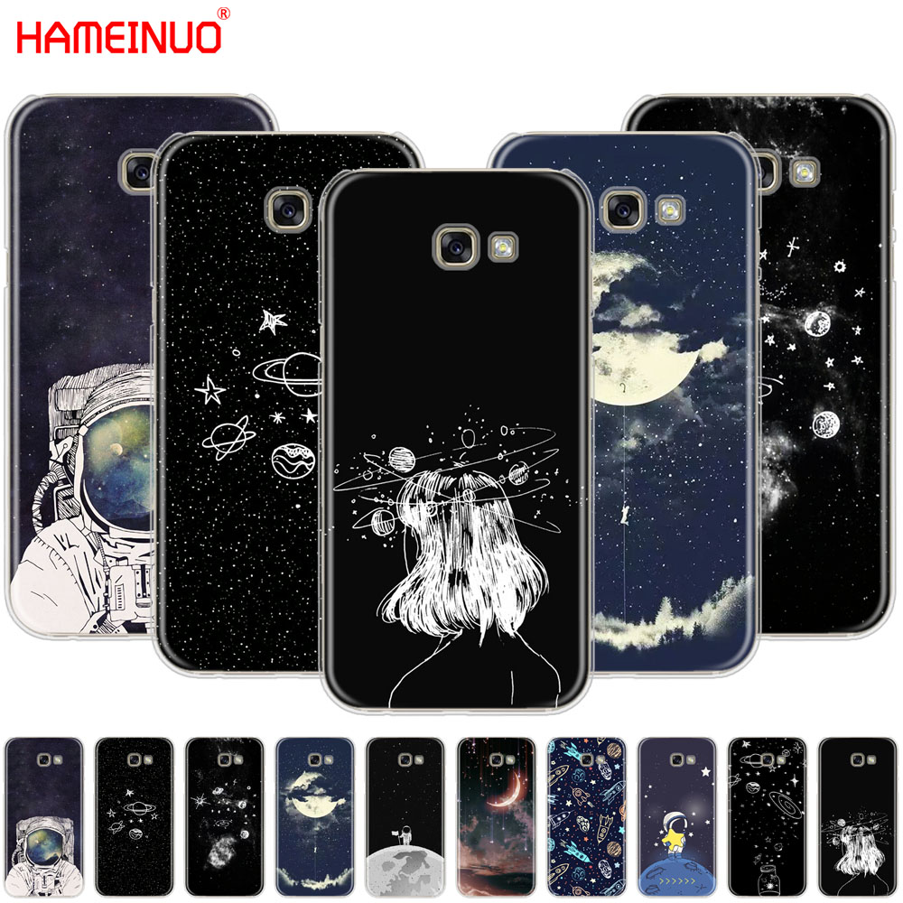 Obedient Hameinuo Space Love Sun And Moon Star Drawing Cell Phone Case Cover For Samsung Galaxy A3 A310 A5 A510 A7 A8 A9 2016 2017 2018 Half-wrapped Case Cellphones & Telecommunications