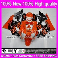 Orange black Fairing For HONDA CBR919RR 98 99 CBR900RR 98 99 Orange blk 35B1 CBR 919RR CBR 919 RR CBR919 RR 1998 1999 +decal