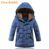 2018 Big boys Warm Children's winter jackets for boys Duck Down padded children clothing Coat Thickening Outerwear Down & Parkas