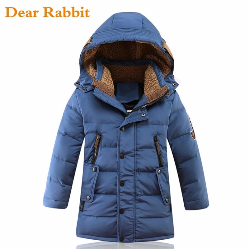 2018 Große Jungen Warme Kinder Winter Jacken Für Jungen Ente Unten Padded Kinder Kleidung Mantel Verdickung Oberbekleidung Down & Parkas