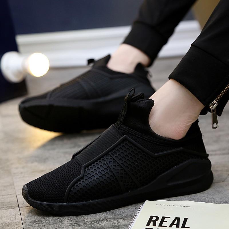 2018 Para Alto blanco Top Malla Hombre Negro Ocasionales Weave Rojo Zapatos Hombres Otoño Slip Respirables on Zapatillas Fly Primavera 333 rojo rZrFdwq