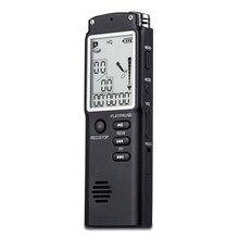 16 GB Profesional Grabadora de Voz de Audio Digital con Visualización En Tiempo Real de Una Tecla de bloqueo de Pantalla de Teléfono de Grabación Reproductor MP3
