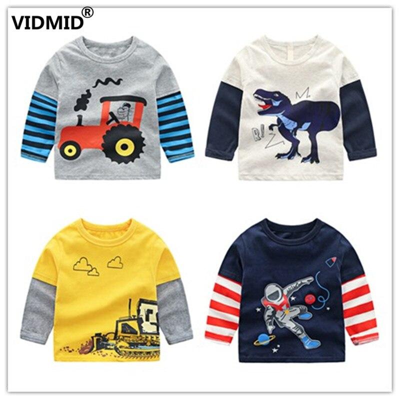 VIDMID T-Shirts Long-Sleeve 4066 Cartoon Clothing Baby-Boys Autumn Kids Children