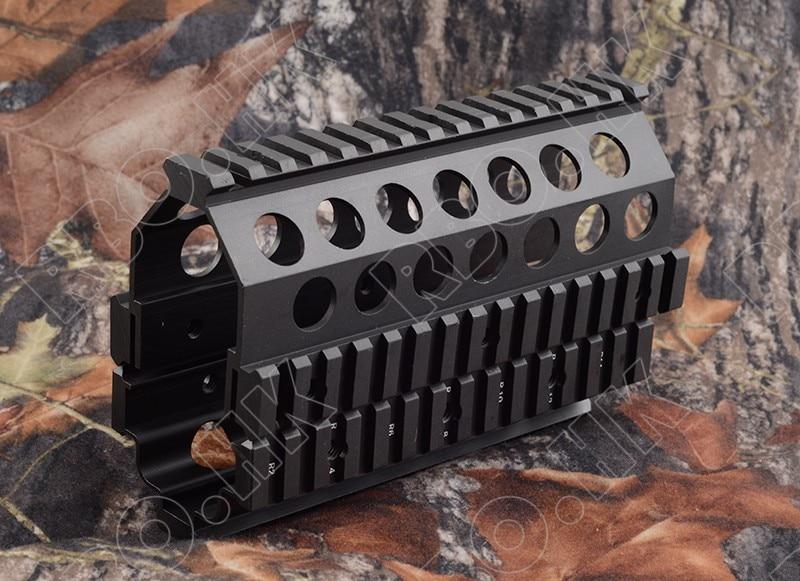 Tactical M249 Paramani 20mm picatinny RIS set nder Sistema Ferroviario Caccia accessori In Alluminio CNC M8189