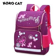 KOKOCAT Childrens Backpack Kids Cartoon School Bags for Boys Anime Girls Orthopedic Schoolbag