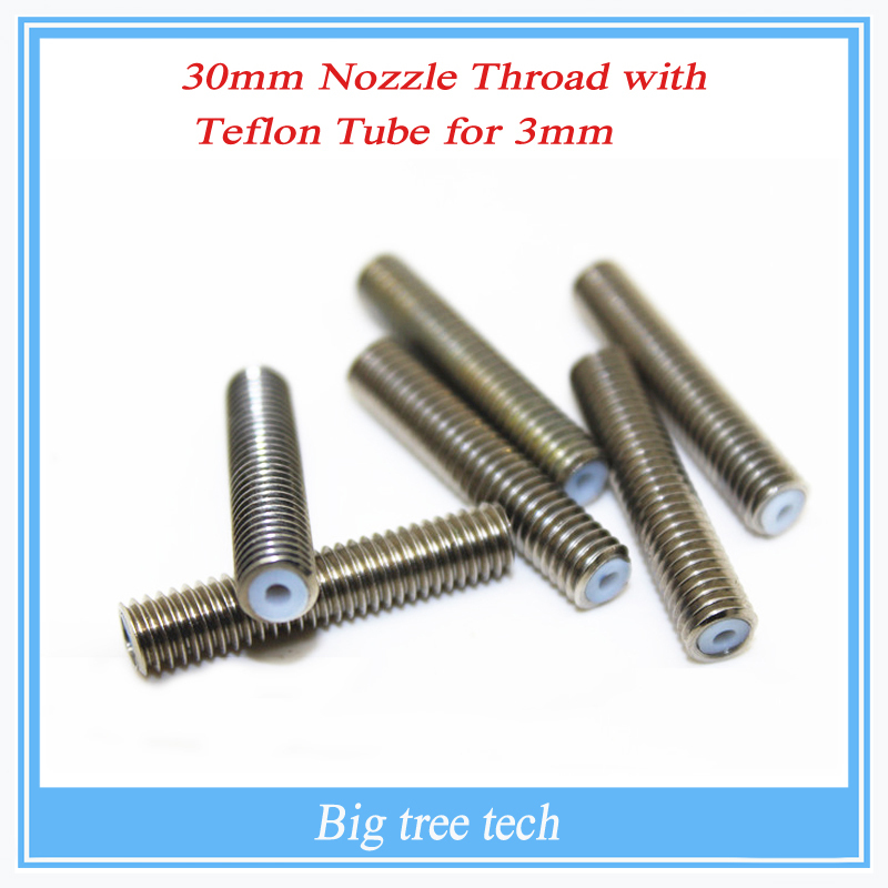 reprap-3d-printer-m6-30mm-barrels-printer-nozzle-throat-with-teflon-tube-175mm