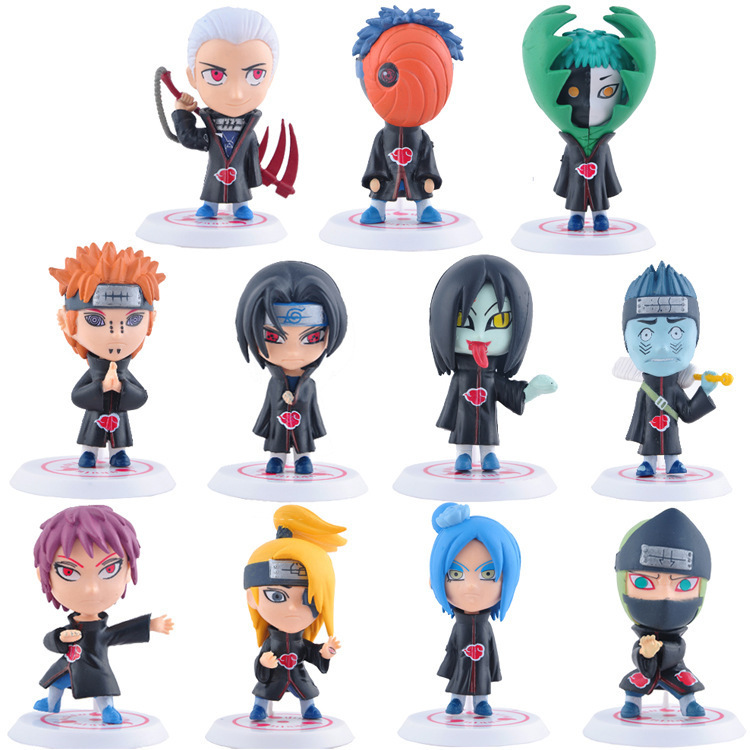 11 Pcs/set Anime Naruto Action Figures Toys Cute Q-version 7-8cm Uzumaki Uchiha Sasuke Collectible PVC Dolls Kids Gift motorcycle front brake master cylinder brake lever