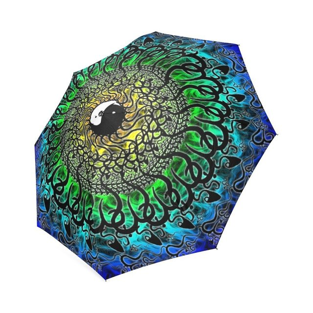 Cool Mandala and Yin Yang Foldable Rain/Sun Umbrella Wind Resistant on