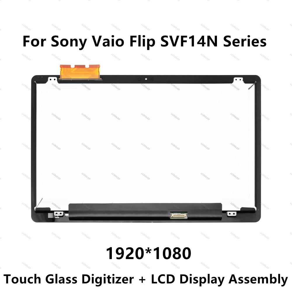 14 FHD LCD Display Touch Screen Digitizer Assembly For Sony Vaio Flip SVF14N Series SVF14N100C SVF14N1L2R SVF14N1J2R SVF14N1N2E
