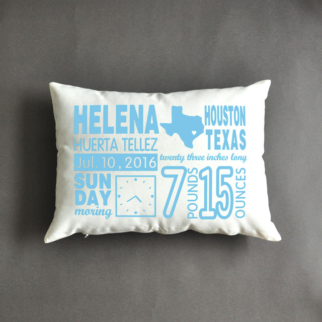 Birth announcement pillow new mom gift mothers day gift birth announcement pillow new mom gift mothers day gift personalized baby gifts negle Image collections