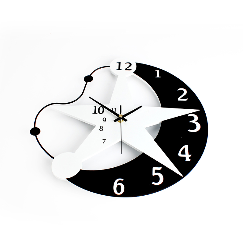 Inch Creative Star Wall Clock Modern Design Living RoomKids Room - Wall clock for kids room