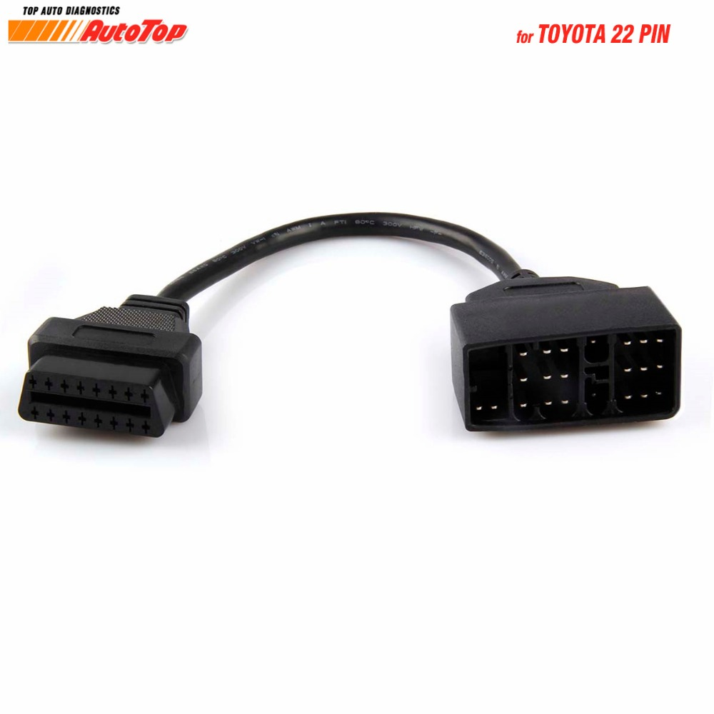 for <font><b>Toyota</b></font> Diagnostic Cable <font><b>22pin</b></font> OBD Diagnostic Connector to OBD2 16Pin Cable Connector for <font><b>Toyota</b></font> 22 Pin Auto Car Accessories image