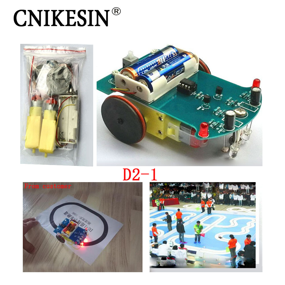 CNIKESIN D2 1 diy kit Intelligent tracking the car kit D2 1 patrol car parts Electronic