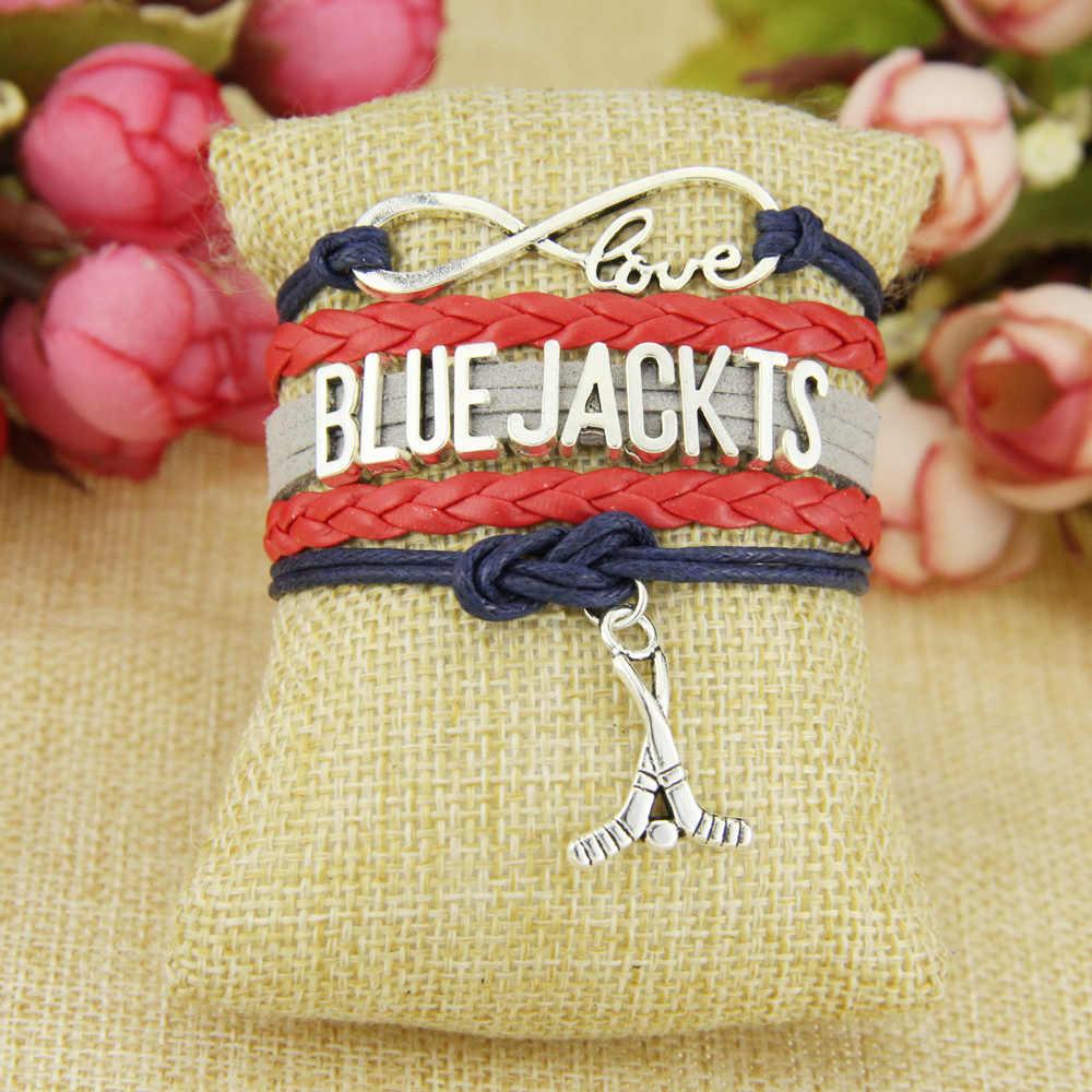 Pulsera de cadena infinito amor azul JACKTS Azul Rojo gris cordón Golf Dropshipping