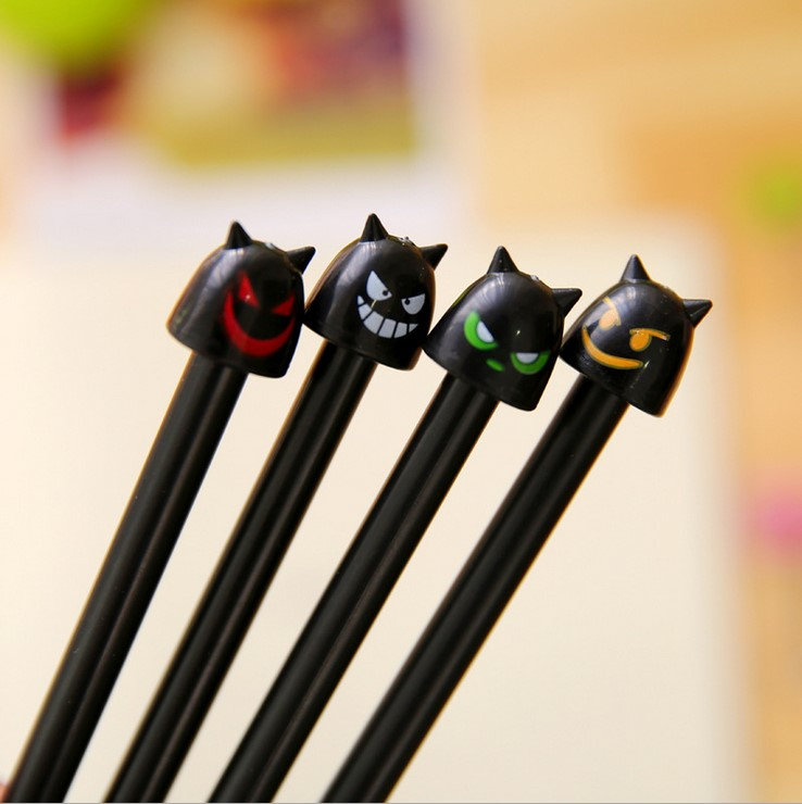 4Pcs/Lot Creative Little Monster Gel Ink Pen Promotional Gift Stationery Novelty Needle Fountain Pen