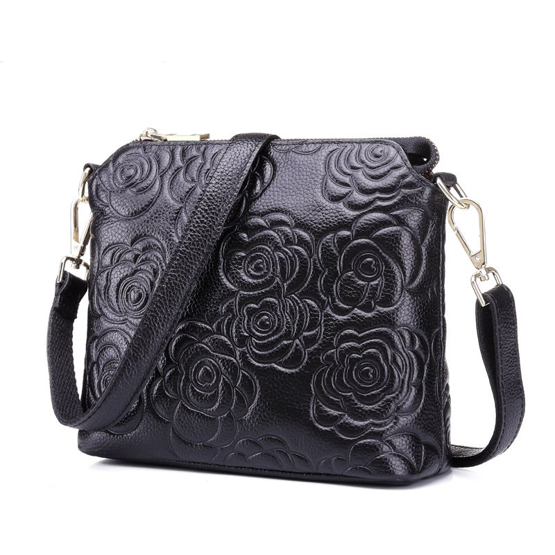 free shipping new fashion brand women's single shoulder bag female messenger bag 100% genuine cow leather grace camellia design free shipping embossing letters package europe fashion genuine leather single shoulder hand his female bag
