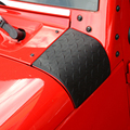 2016 НОВЫЙ Капот Угол Wrap Чехлы Для Jeep WRANGLER JK 2007-2016 Cornerite Крышка ABS Вытяжки Защитная Черный