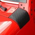 2016 NUEVA Capucha Ángulo de Envoltura Cubre Para Jeep WRANGLER JK 2007-2016 Cornerite Cubierta ABS de Protección Campanas Negro