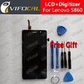 For Lenovo S860 LCD Display Touch Screen + Tools Set Panel Assembly Replacement For Phone - Free Shipping + IN Stock