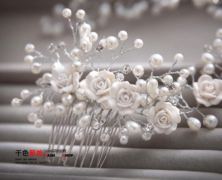 HTB167c.KVXXXXbVXFXXq6xXFXXXa Gorgeous Berry And Rose Flower Wedding Prom Party Hair Jewelry For Women